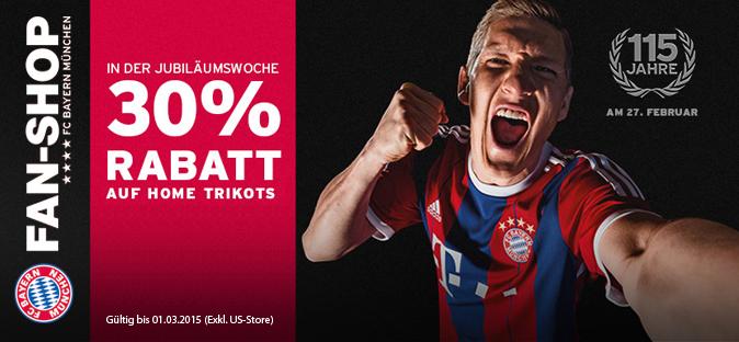 Jubiläumswoche in unserem FC Bayern Fan-Shop!