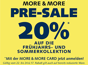 More & More Pre-Sale