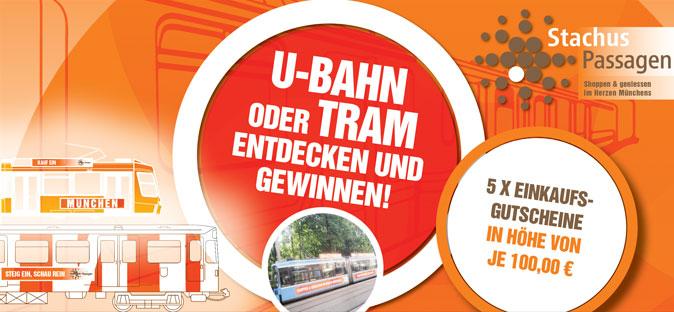 U-Bahn oder Tram entdecken und gewinnen!