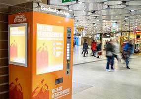 Unser neuer Gutscheinautomat
